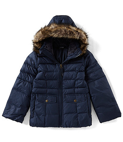 The North Face Little/Big Girls 5-20 Gotham Faux Fur Trim Hooded 2.0 Down Jacket