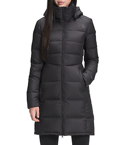 The North Face Metropolis Hooded Down Feminine Silhouette Puffer Parka