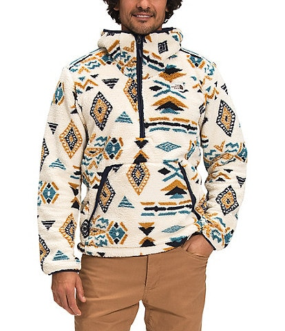 The North Face Out Campshire Sherpa-Fleece Geo Print Pullover Hoodie