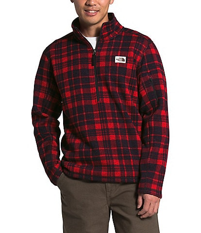 The North Face Out Gordon Lyons Novelty Quarter-Zip Glen Plaid Pullover