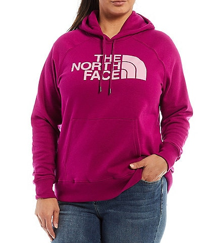 The North Face Plus Size Half Dome Long Sleeve Pullover Fleece Hoodie