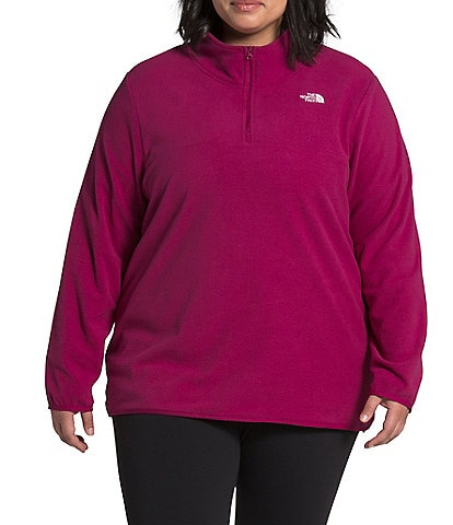 The North Face Plus Size TKA Glacier Quarter Zip Fleece Pullover