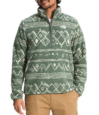 The North Face Printed Dunraven Faux-Sherpa 1/4-Zip Jacket