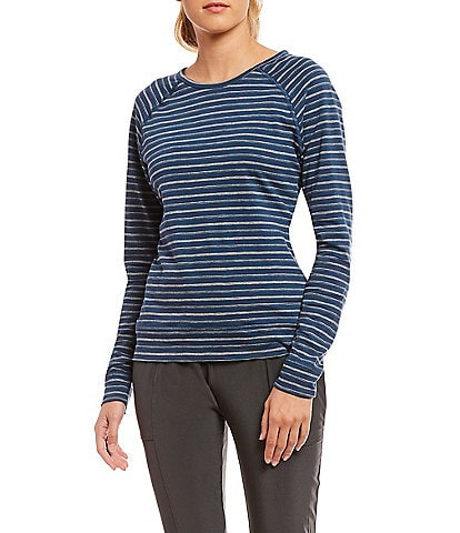 The North Face Sand Scape Striped Long Raglan Sleeve Top