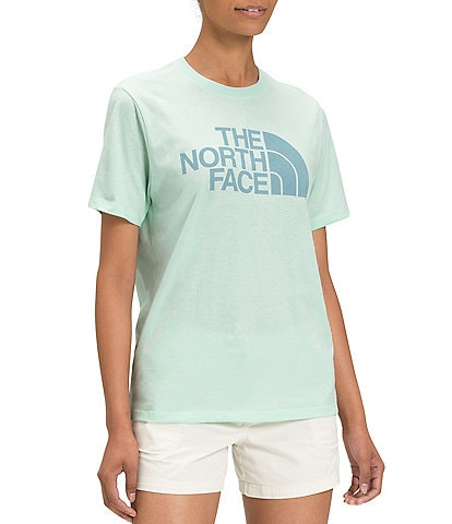 The North Face Short Sleeve Crew Neck Half Dome Cotton Graphic Tee