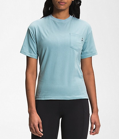 The North Face Short Sleeve Crew Neck Ribbed Collar Pocket Tee