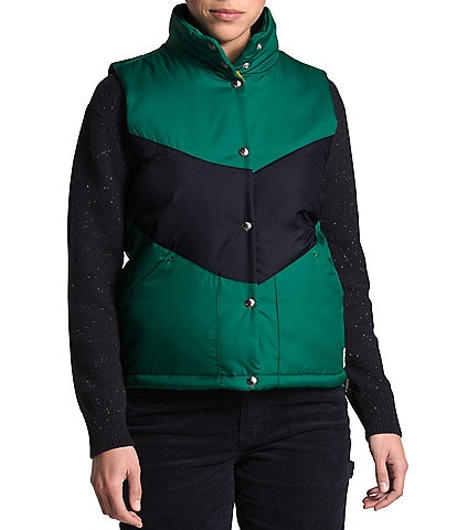 The North Face Sylvester Chevron Colorblock Puffer Vest