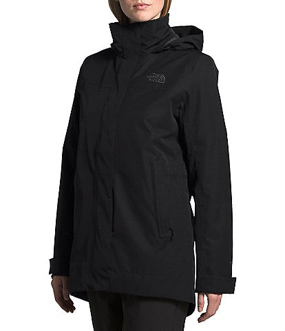The North Face Westoak City Hooded Water Resistant Trench Raincoat