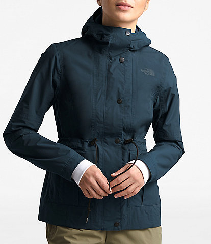 The North Face Zoomie Utility Pocket Detail Cinched Waist Rain Jacket