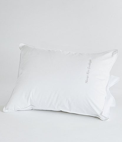 The Pillow Bar Down Alternative Embroidered Petite Roll N' Go Travel Pillow