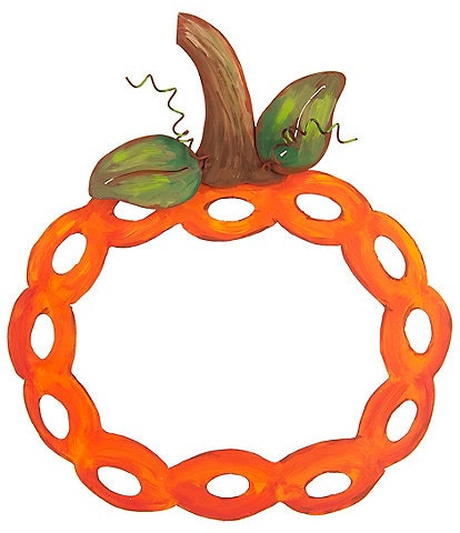 The Round Top Collection Festive Fall Collection Braided Pumpkin Fall Wreath