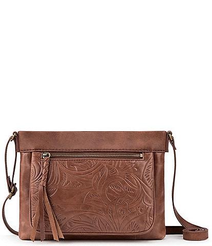 The Sak Collective Sanibel Embossed Leather Mini Crossbody Bag