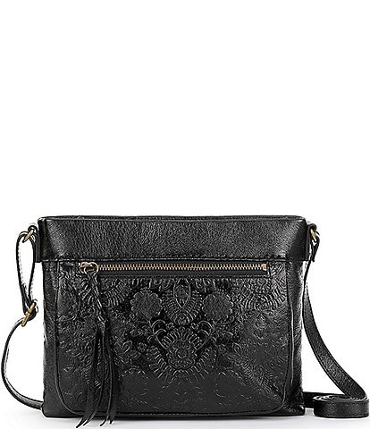 The Sak Collective Sanibel Embossed Leather Mini Crossbody Bag