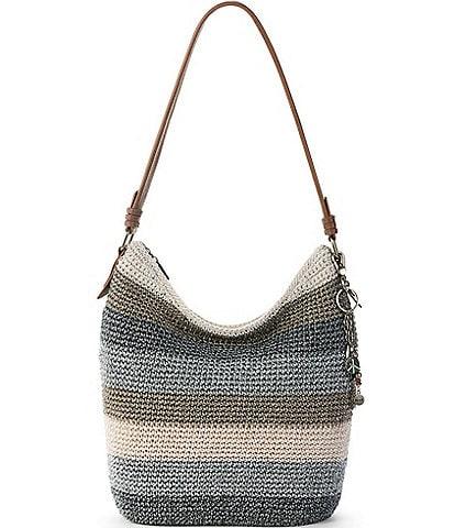 The Sak Collective Sequoia Hand-Crochet Zip Top Keychain Hobo Bag