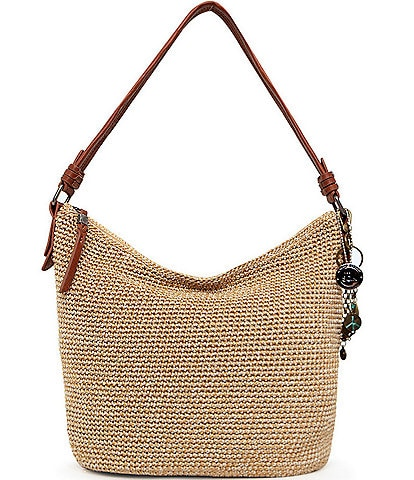 The Sak Collective Sequoia Hand-Crochet Zip Top Keychain Hobo Bag