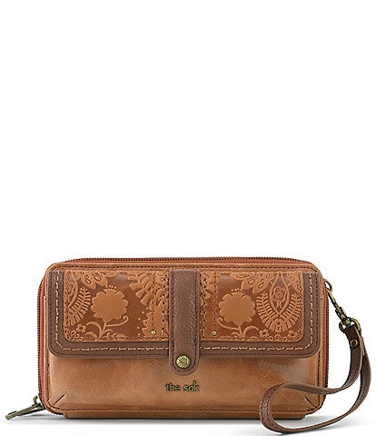 The Sak Collective Sequoia Extra Large Floral Embossed Smartphone Crossbody