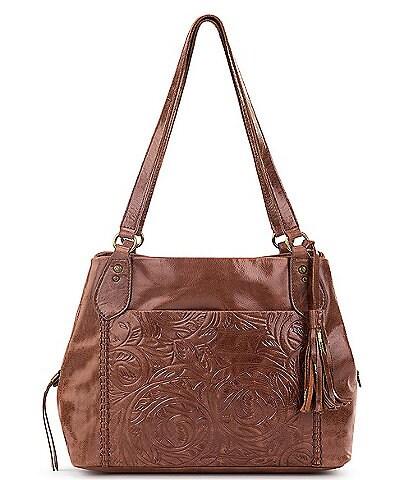 The Sak Embossed Leather Melrose Satchel Bag