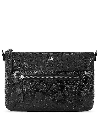 The Sak Embossed Leather Oleta Clutch