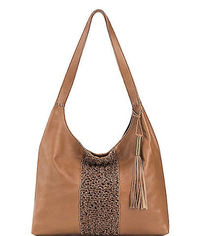 The Sak Huntley Crochet Inset Tassel Hobo Bag