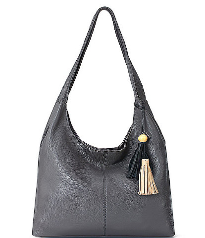 The Sak Huntley Leather Magnetic Snap Hobo Bag