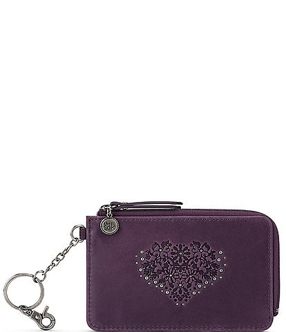 The Sak Iris Heart Embossed ID Card Wallet