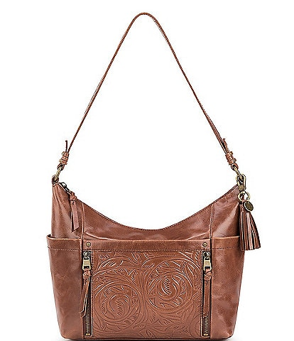 The Sak Keira Leather Embossed Hobo Bag