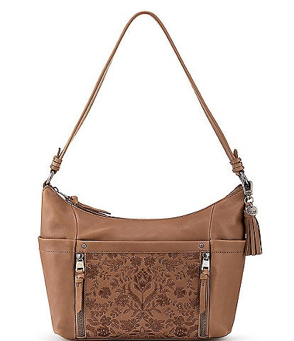 The Sak Keira Leather Embroidered Hobo Bag