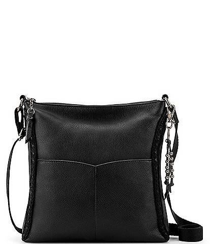 The Sak Lucia Leather Hand-Crochet Crossbody Bag
