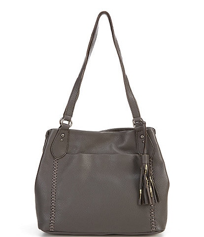 The Sak Melrose Leather Shoulder Satchel Bag