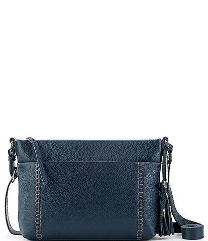The Sak Melrose Top Zip Leather Crossbody Bag