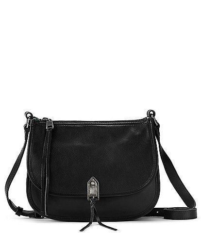 The Sak Playa Fold Over Leather Saddle Bag