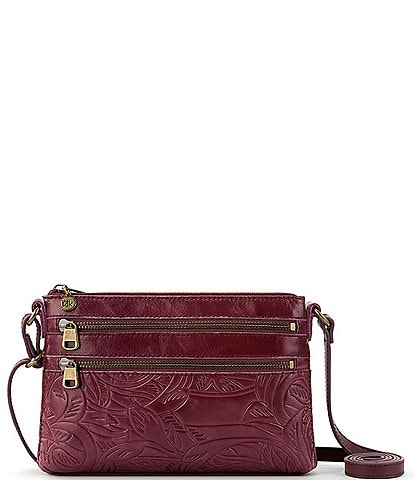 The Sak Reseda Embossed Leather Mini Crossbody Bag