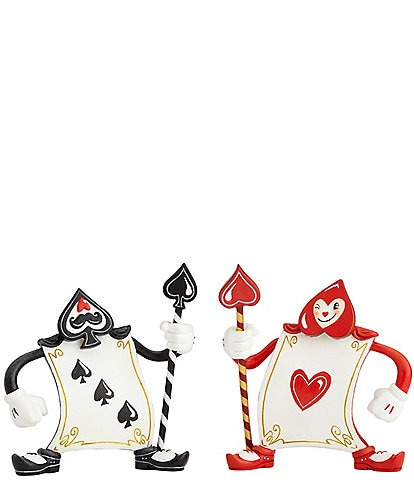 The World of Miss Mindy Presents Disney Alice in Wonderland Ace of Hearts and 3 of Spades Figurine