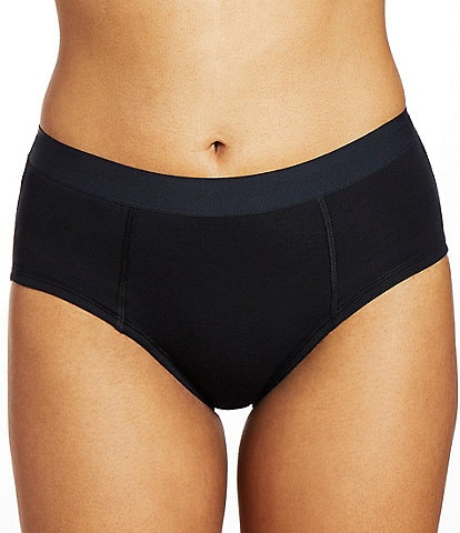 Thinx Cotton Brief Mid Rise Elastic Waistband Brief Panty