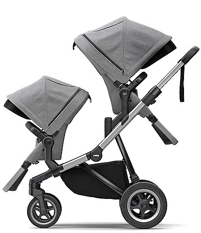 Thule Sleek City Stroller & Sleek Sibling Seat Double Stroller Bundle