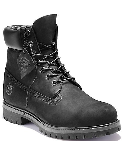 Timberland Men's 6#double; Waterproof Nubuck Leather Boots