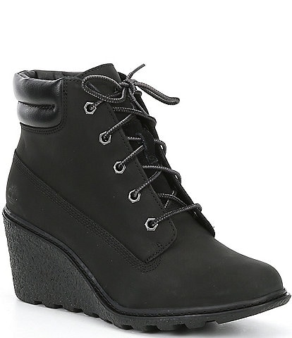 Timberland Amston Wedge Suede Leather Booties