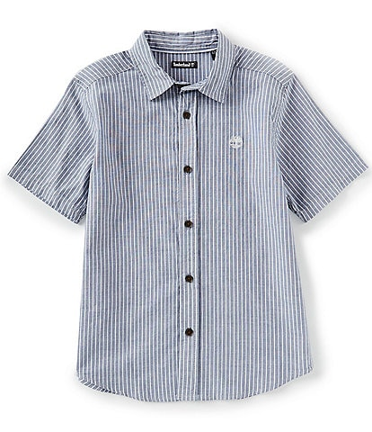 Timberland Big Boys 8-20 Short-Sleeve Cedar Button-Front Shirt
