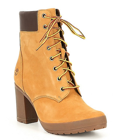 Timberland Camdale Leather Block Heel Field Hiker Boots