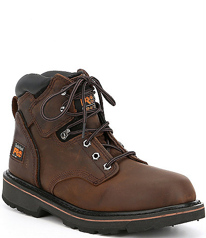 Timberland Men's 6#double; Pro Pit Boss Soft Toe Work Boots