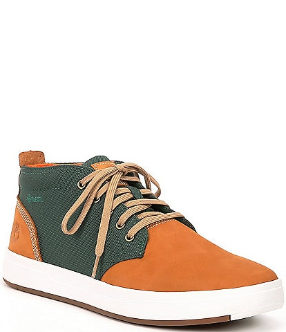 Timberland Men's Davis Square Colorblock Leather Chukka Boots