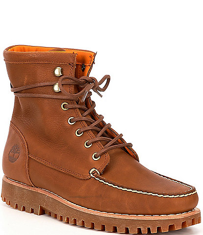 Timberland Men's Jackson's Landing Leather Moc Toe Boots