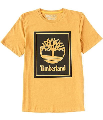 Timberland Stack Logo Short-Sleeve Organic Cotton Tee