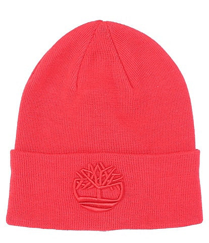 Timberland Tonal 3D Embroidered Knit Beanie