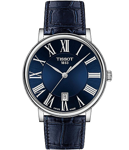 Tissot Carson Premium Blue Leather Strap Watch