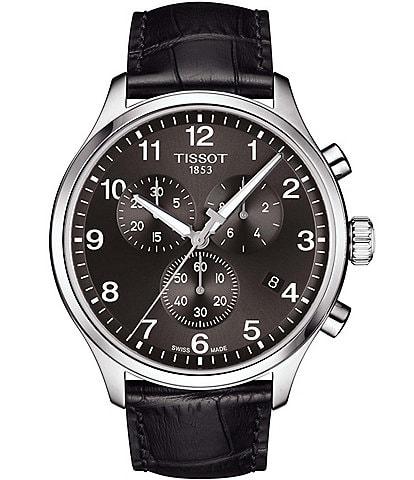 Tissot Chrono XL Classic Black Leather Watch