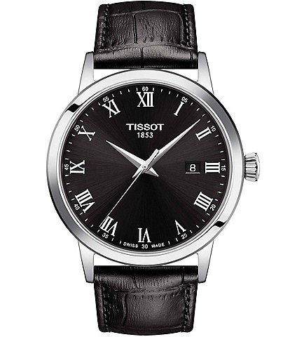 Tissot Classic Dream Black Embossed Leather Watch