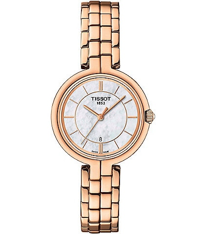 Tissot Flamingo Rose Gold Bracelet Watch