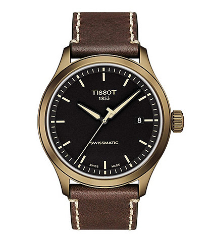 Tissot Gent XL Swissmatic Brown Leather Black Dial Watch