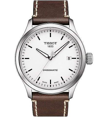Tissot Gent XL Swissmatic Brown Leather White Dial Watch